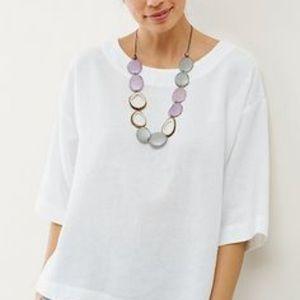 Pure J. Jill Linen Kimono Top un White Medium